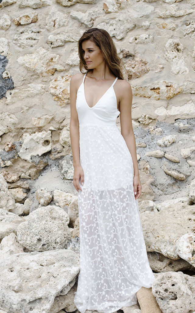 The Wanderlust Maxi - White by House of Dharma