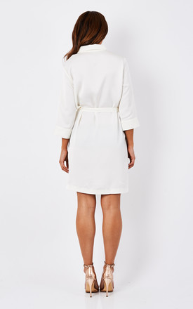 White Tie Shirt Dress by Glamorous