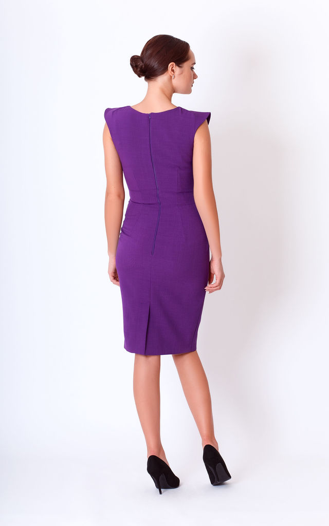 Violet Frill Mini Dress for wedding by JEVA FASHION