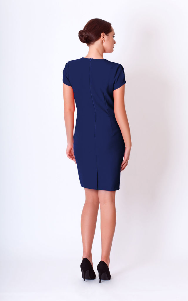 loose dress with short sleeve and 2 split by JEVA FASHION