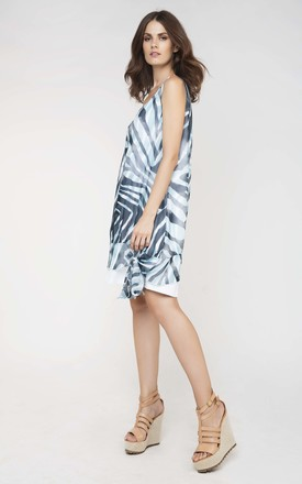 Sleeveless Double Layer Dress in Blue by Conquista Fashion