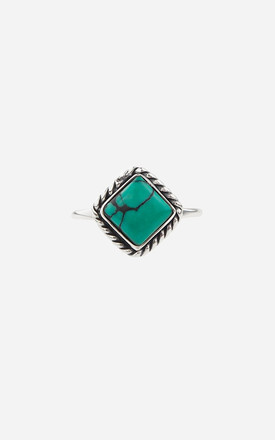HARLOW Sterling Silver Turquoise Ring by Rock N Rose