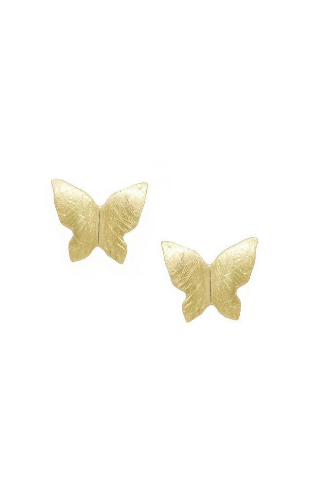 Little Butterfly Earring in Gold by White Leaf