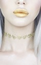 Gold Metallic Love Heart Choker by LULU IN THE SKY