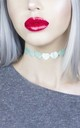 Mermaid Green Metallic Love Heart Choker by LULU IN THE SKY