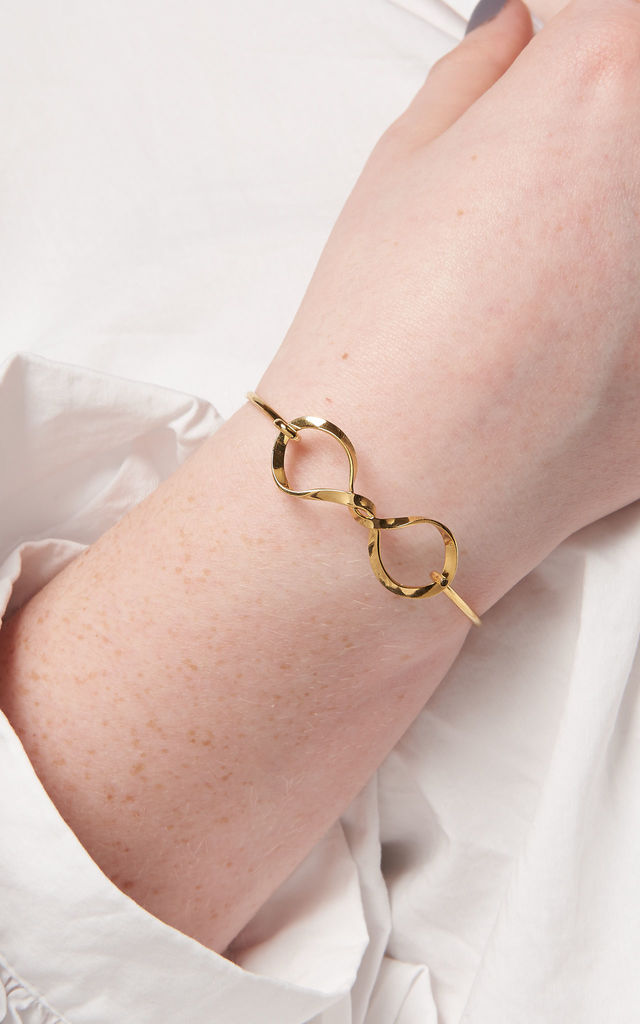 Twisted Infinity Bangle by DOSE of ROSE