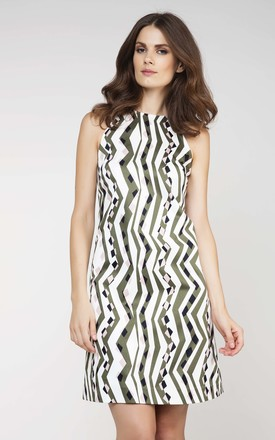 A-Line Print Dress by Conquista Fashion