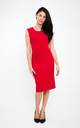 The Grace Red sleeveless fitted pencil dress by Off the Catwalk