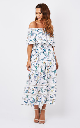 Floral Bardot Dress by Oeuvre