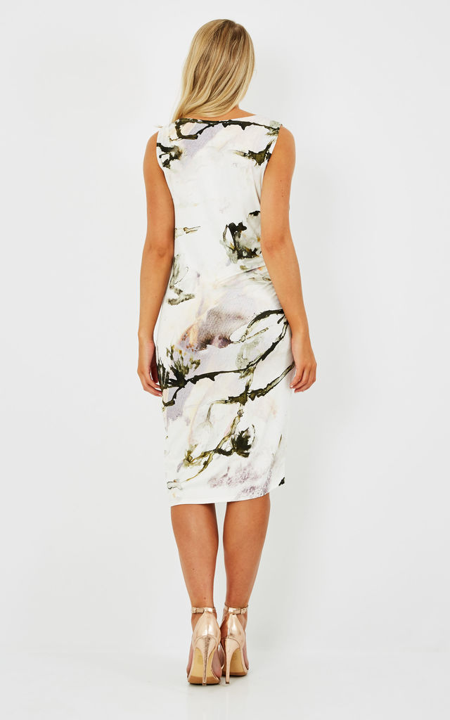 REINDHART floral printed jersey drape dress by Me & Thee