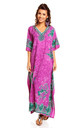 Ladies Oversized Maxi Kimono Kaftan Tunic Kaftan Dress Purple by Looking Glam