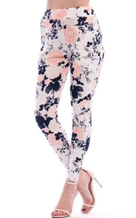 Floral Printed Trouser - Blue by Npire London