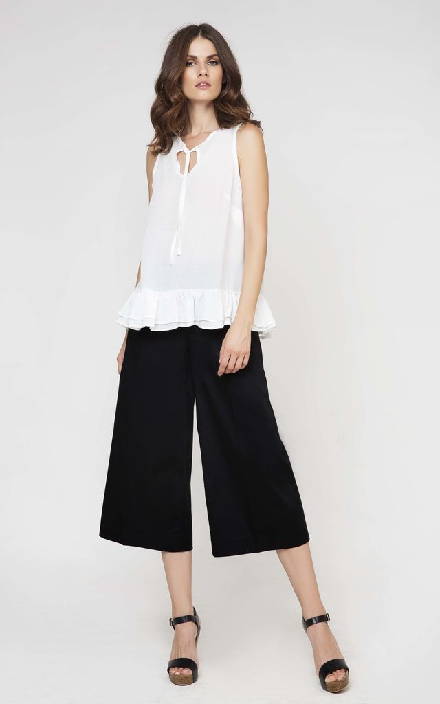 Black Culottes by Conquista Fashion