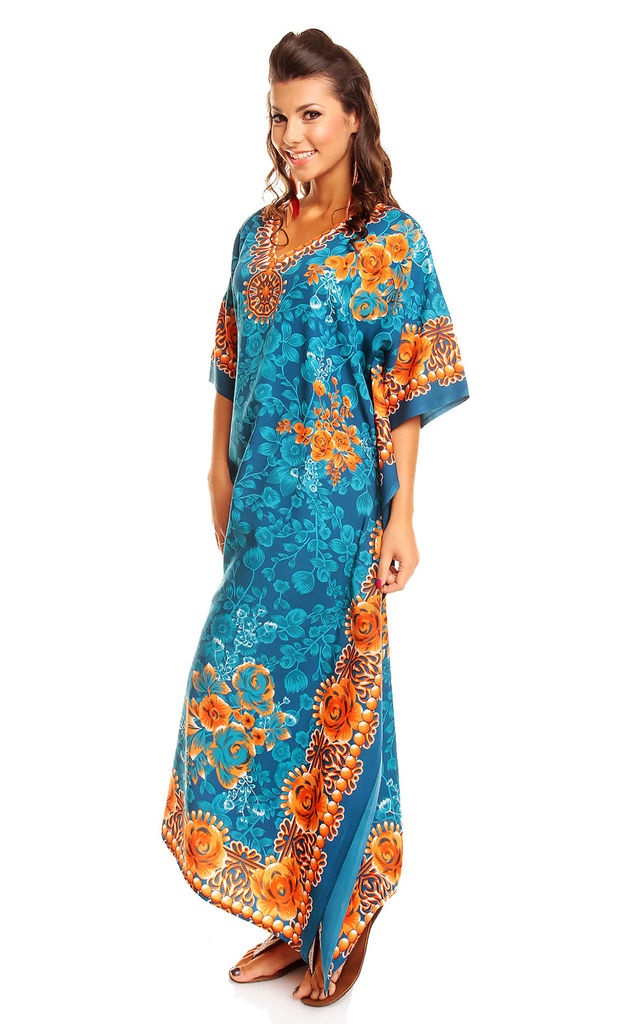 Ladies Oversized Maxi Kimono Kaftan Tunic Kaftan Dress by Looking Glam