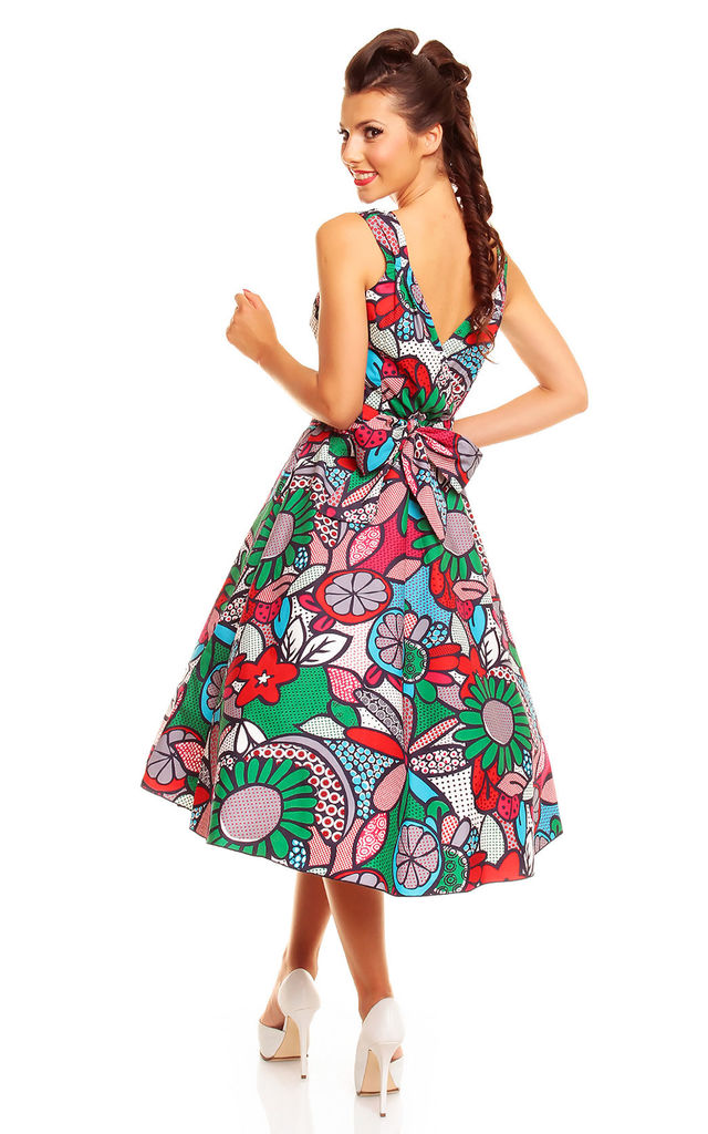 Retro Vintage Swing Pop Art Pin Up Dress by Looking Glam