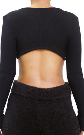 RANDAL Super crop in BLACK by The K Label