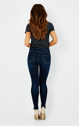 Lexi Super Skinny Jeans in Dark Blue by love frontrow