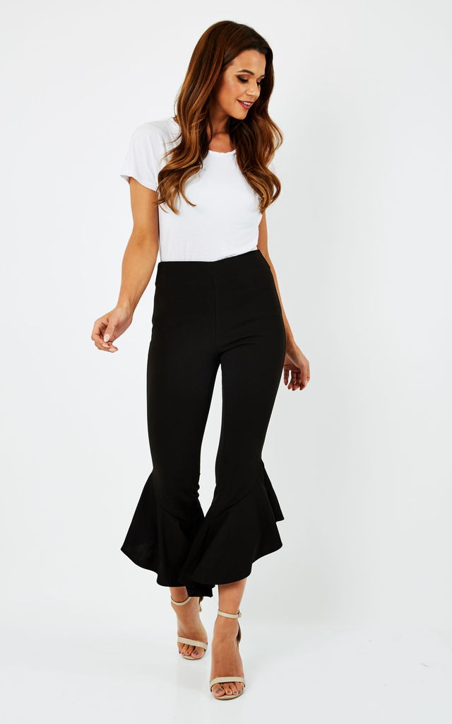 Harper Frill Hem Cropped Trousers by Frontrow Limited