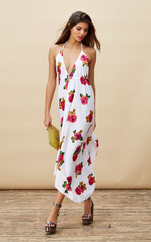 Boho Maxi in White Rose  image