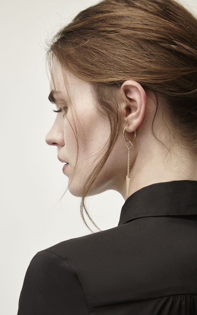 Hendrix Gold Fill Hoop Spike Earrings by Alison Fern Jewellery