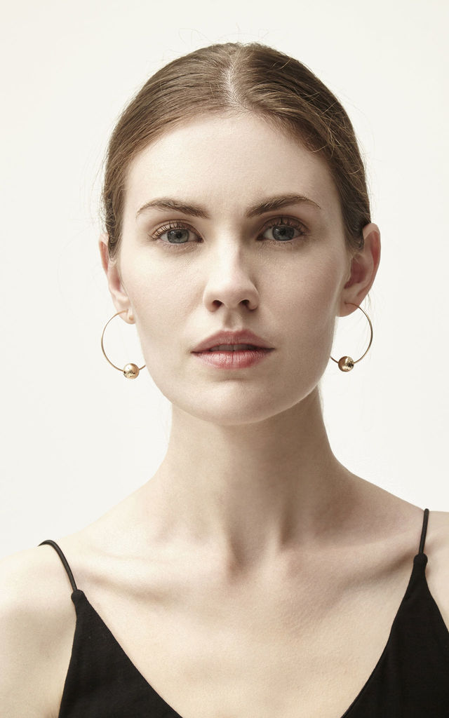 Bexley Gold Fill Large Hoop Earrings by Alison Fern Jewellery