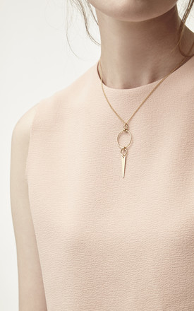 Hannah Gold Fill Circle Spike Necklace by Alison Fern Jewellery