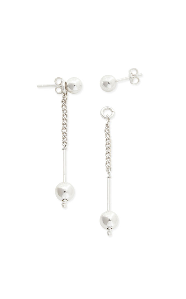 Buster Sterling Silver Ball Drop Earrings by Alison Fern Jewellery