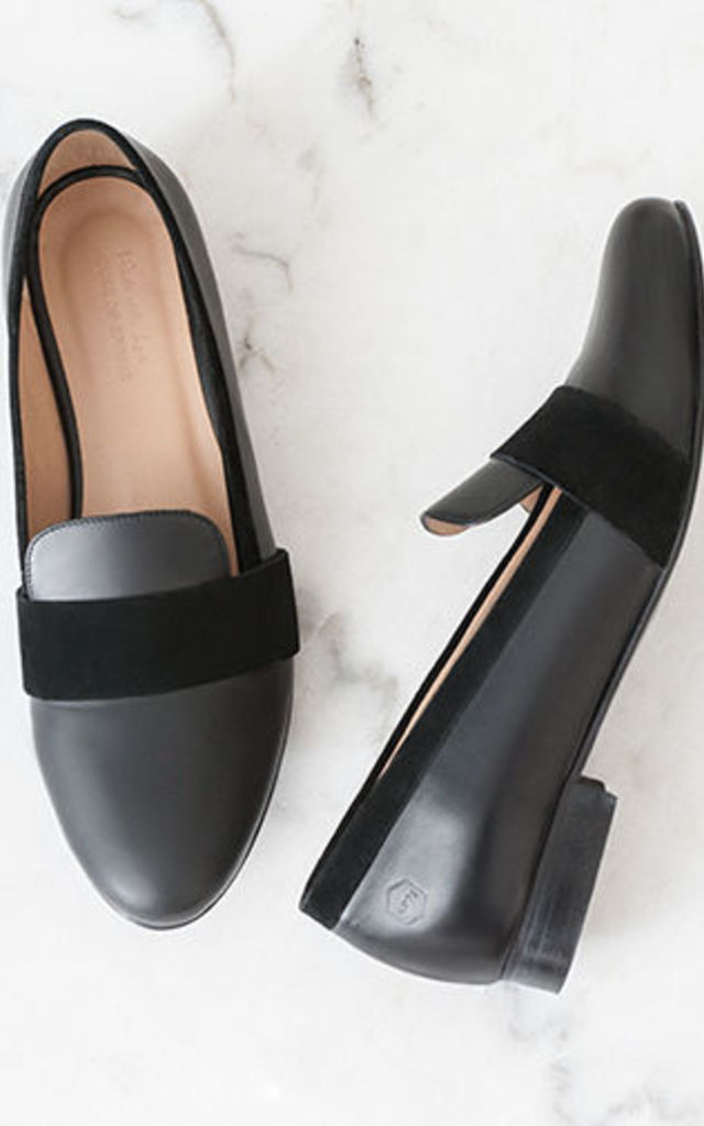 Portobello Black loafers by House of Spring