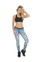 Blue Cheetah Full Length Leggings by AMiCAFOX