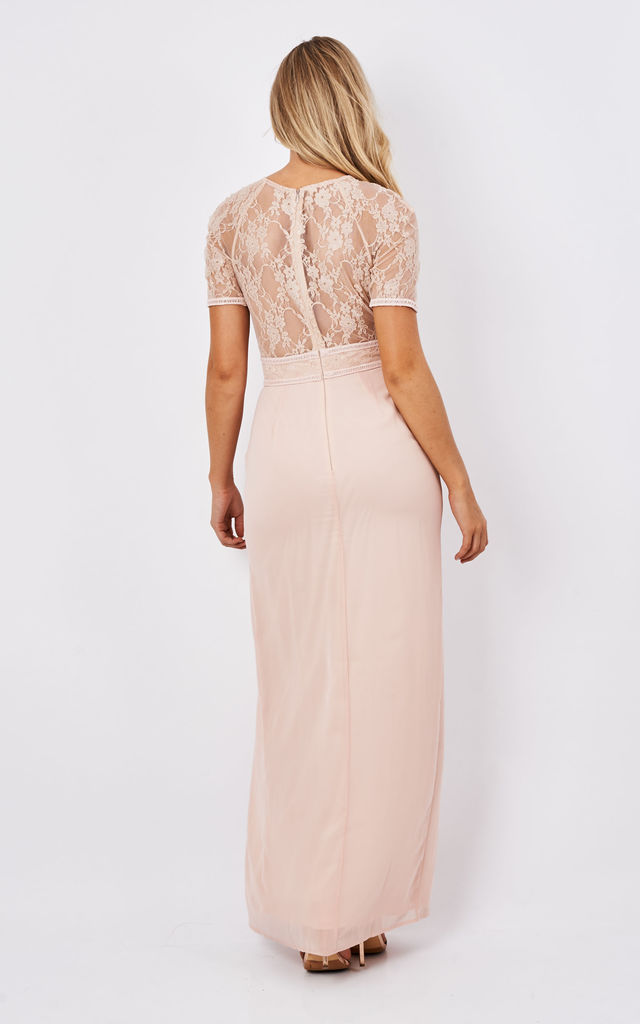 Maxi Dress With Lace Sleeve And Back by Elise Ryan