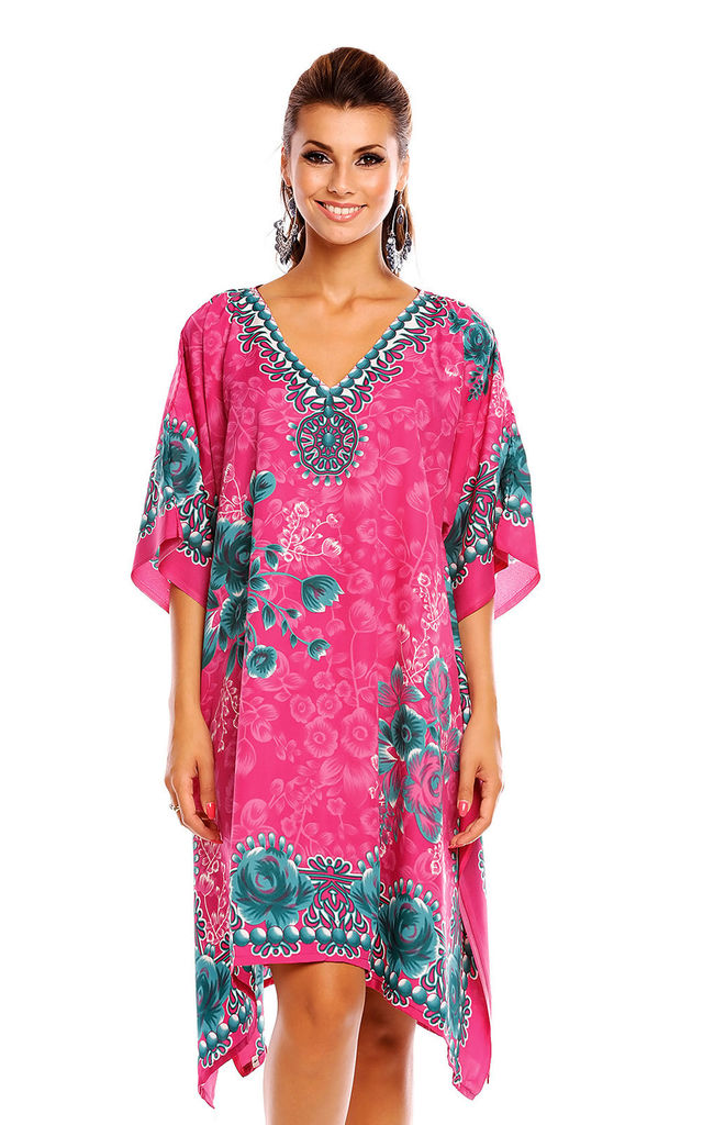 Ladies Oversized Kimono Kaftan Tunic Kaftan Dress by Looking Glam