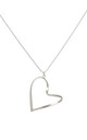Wave Heart Necklace White Gold by DOSE of ROSE