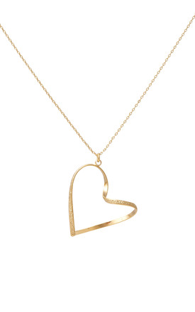 Wave Heart Necklace Gold by DOSE of ROSE Product photo