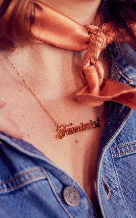 FEMINIST Necklace by Rock N Rose