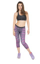 Purple Crocodile Cropped Leggings by AMiCAFOX