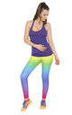 Rainbow Full Length Fitness Leggings by AMiCAFOX