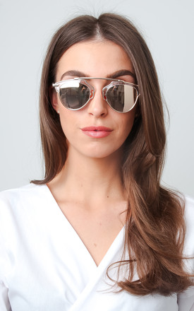 Mirrored Framed Sunglasses - Rose Gold by Pretty Lavish