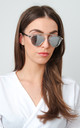 Mirrored Framed Sunglasses - Silver by Pretty Lavish