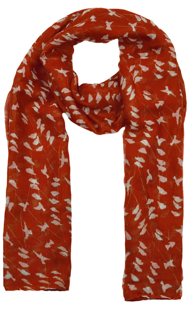 Bird on Wire Print Scarf by GOLDKID LONDON