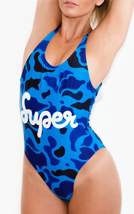 Duck Hunter Swimsuit in Blue by *BY COLORSUPER