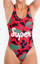 Duck Hunter Swimsuit in Red by *BY COLORSUPER