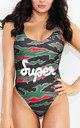 Tiger Camo Swimsuit in Green by *BY COLORSUPER