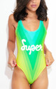 Rainbow Road Swimsuit by *BY COLORSUPER