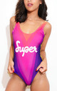 Rainbow Road Swimsuit - Purple by *BY COLORSUPER