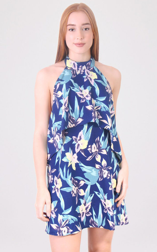 Layered Open Back Floral Print Dress by MISSTRUTH