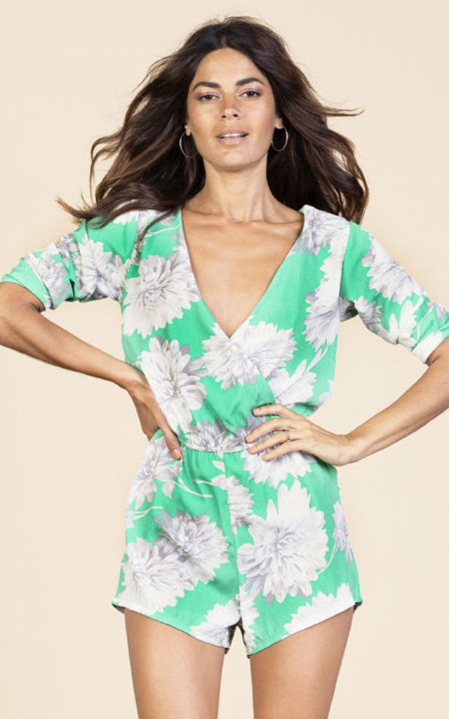 Tiago Playsuit in Green Bloom image
