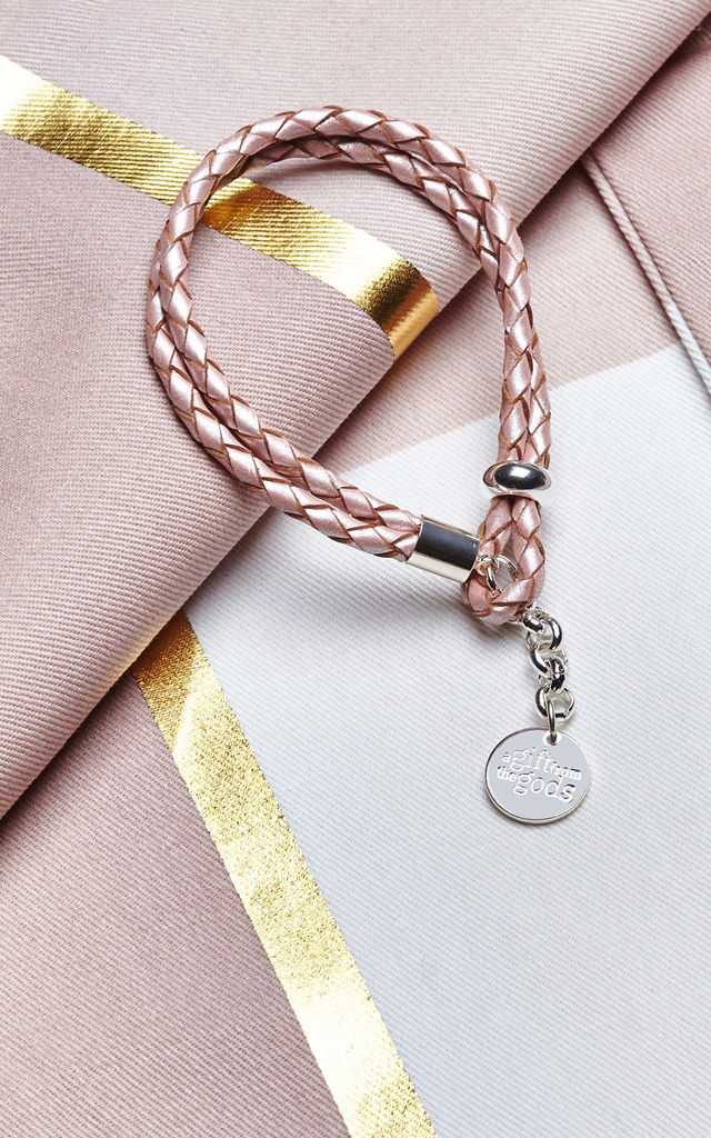 Dusky Soft Pink Braided Rope Bracelet By A Gift From The S