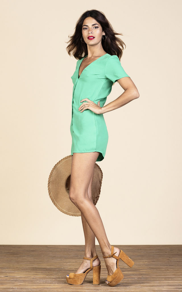 Bambi Playsuit in Summer Green image