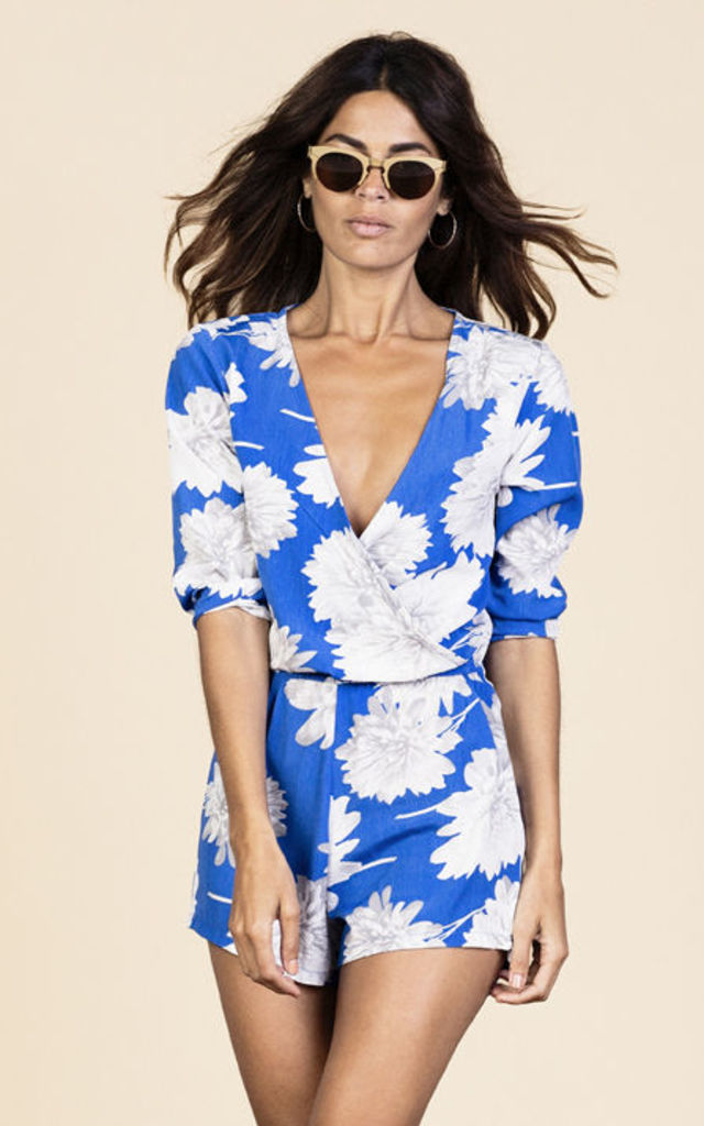 Tiago Playsuit in Blue Bloom image
