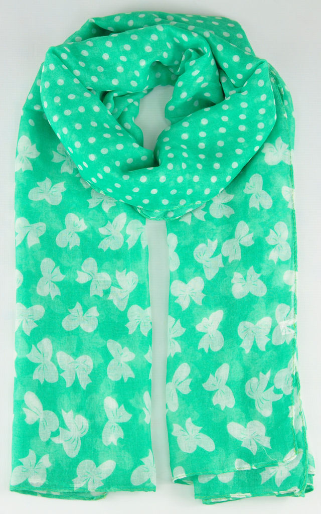 butterfly print scarf in green by GOLDKID LONDON